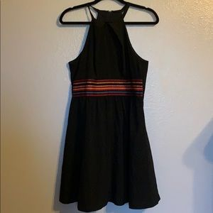 Black dress with colorful accent